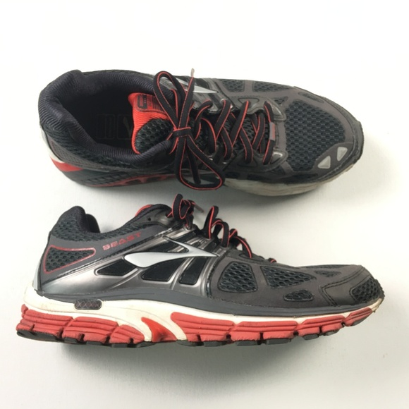 5ba4f096d0a5a Brooks Other - Brooks Beast Mens Size 9.5 Black Red Running Shoes